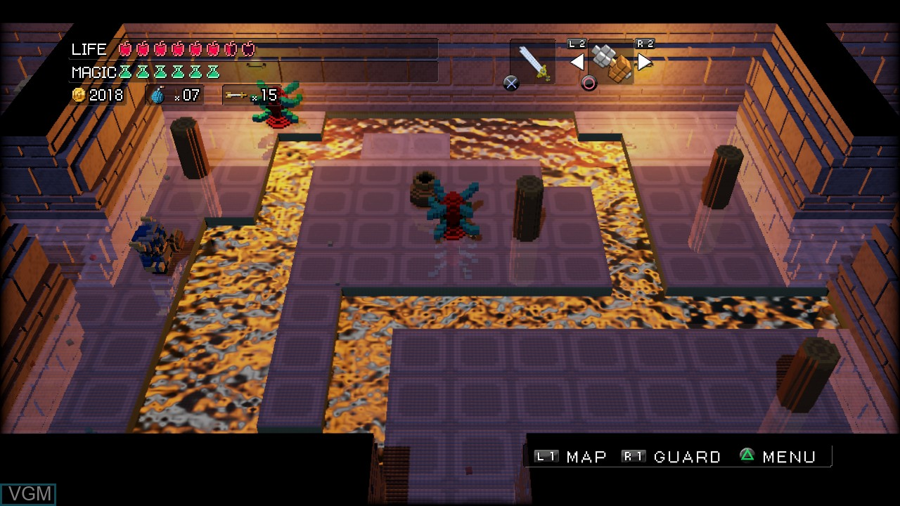 In-game screen of the game 3D Dot Game Heroes on Sony Playstation 3