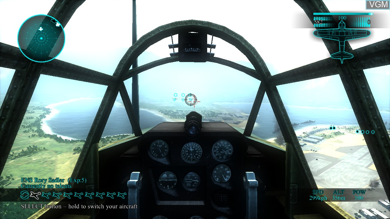 In-game screen of the game Air Conflicts - Pacific Carriers on Sony Playstation 3