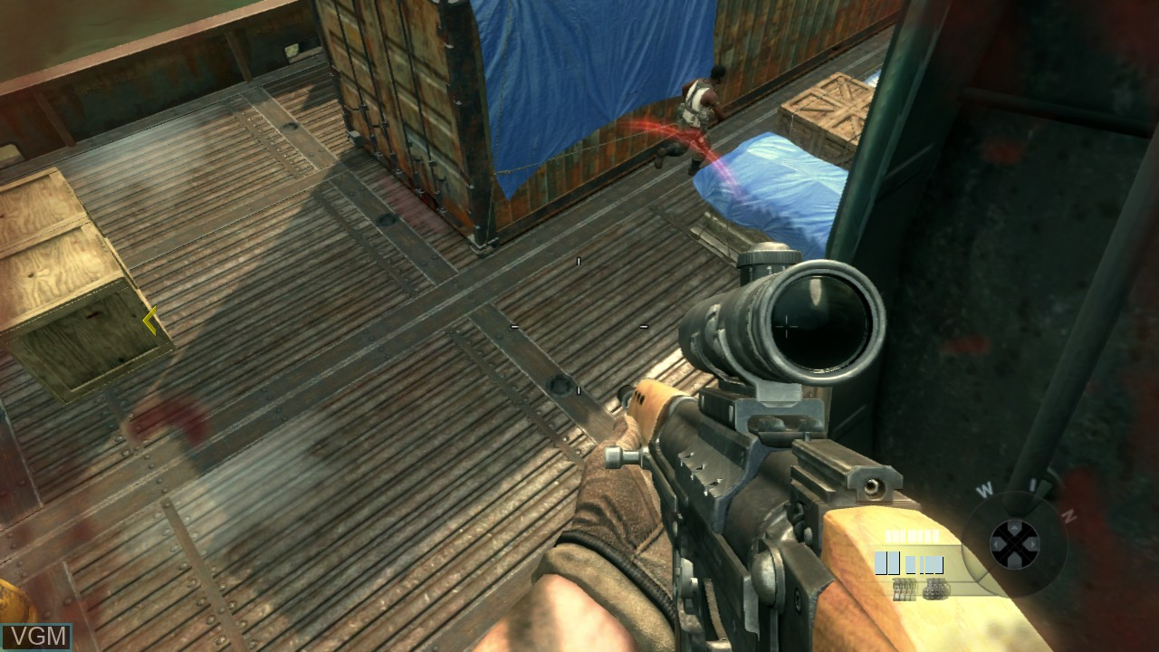 In-game screen of the game Call of Duty - Black Ops II on Sony Playstation 3