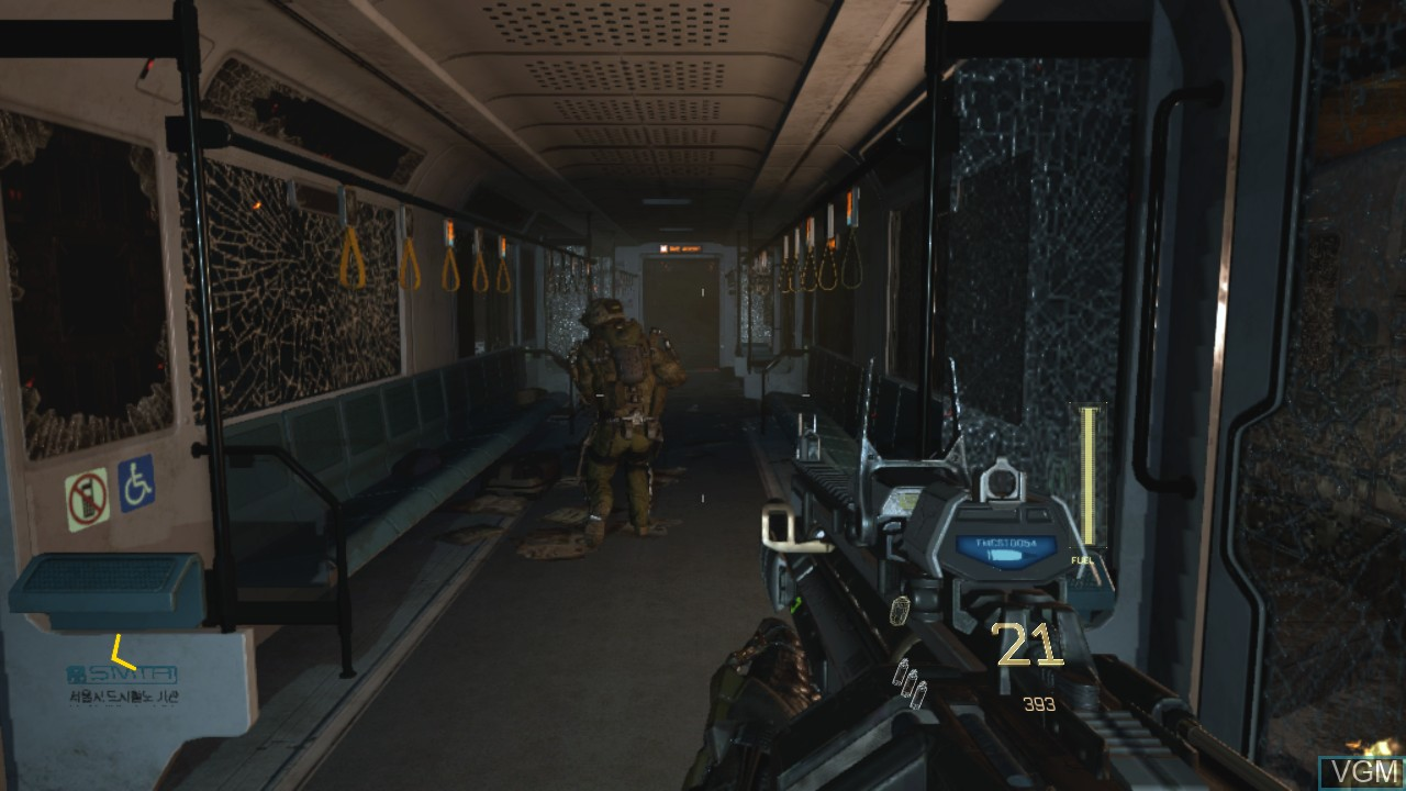 In-game screen of the game Call of Duty - Advanced Warfare on Sony Playstation 3