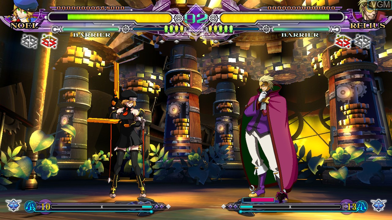 In-game screen of the game BlazBlue - Continuum Shift Extend on Sony Playstation 3