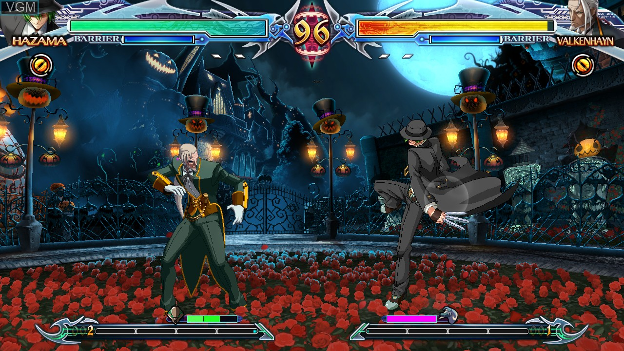 In-game screen of the game BlazBlue - Chrono Phantasma Extend on Sony Playstation 3