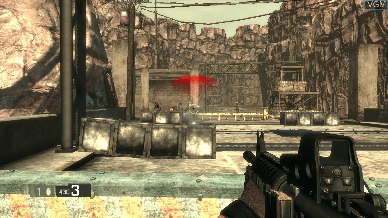 In-game screen of the game BlackSite - Area 51 on Sony Playstation 3