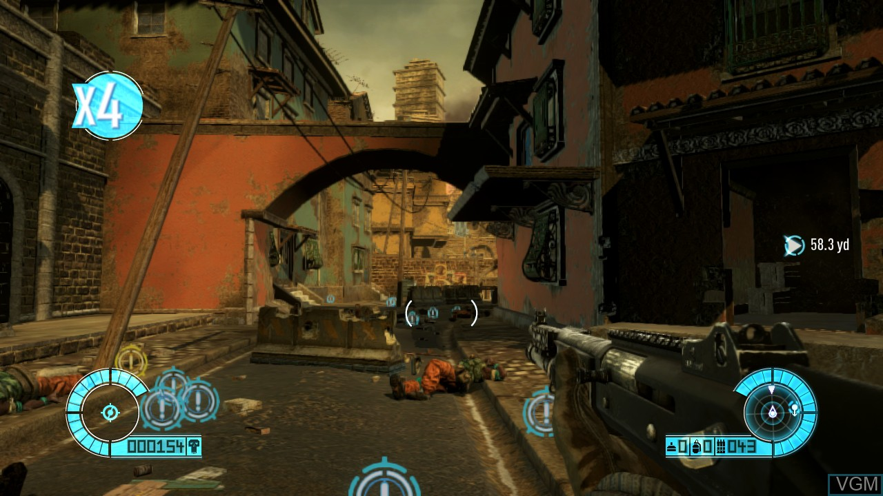 In-game screen of the game Bodycount on Sony Playstation 3