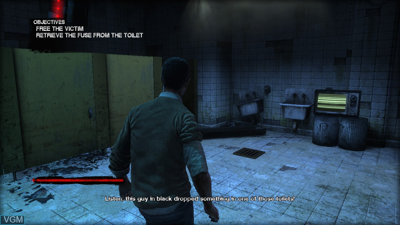 In-game screen of the game Saw on Sony Playstation 3