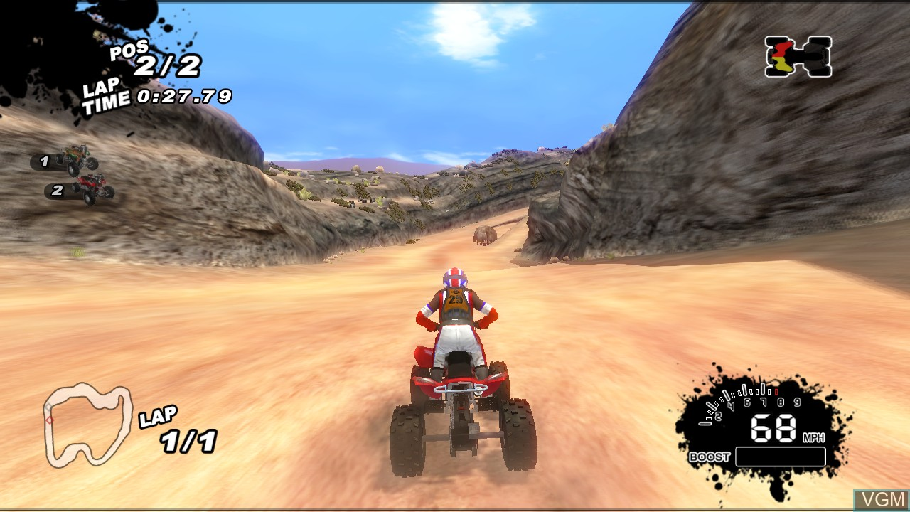 In-game screen of the game SCORE International Baja 1000 - World Championship Off Road Racing on Sony Playstation 3