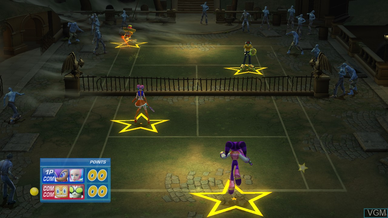 In-game screen of the game Sega Superstars Tennis on Sony Playstation 3