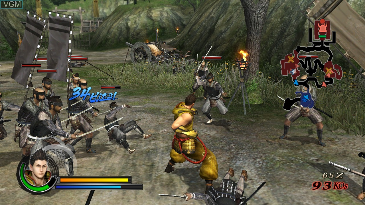 In-game screen of the game Sengoku Basara - Samurai Heroes on Sony Playstation 3