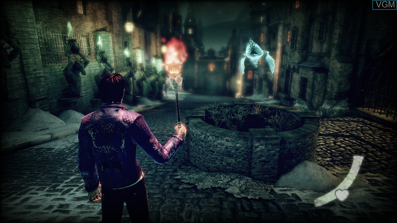 In-game screen of the game Shadows of the Damned on Sony Playstation 3