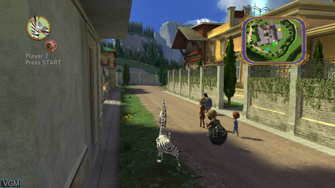 In-game screen of the game Madagascar 3 - The Video Game on Sony Playstation 3