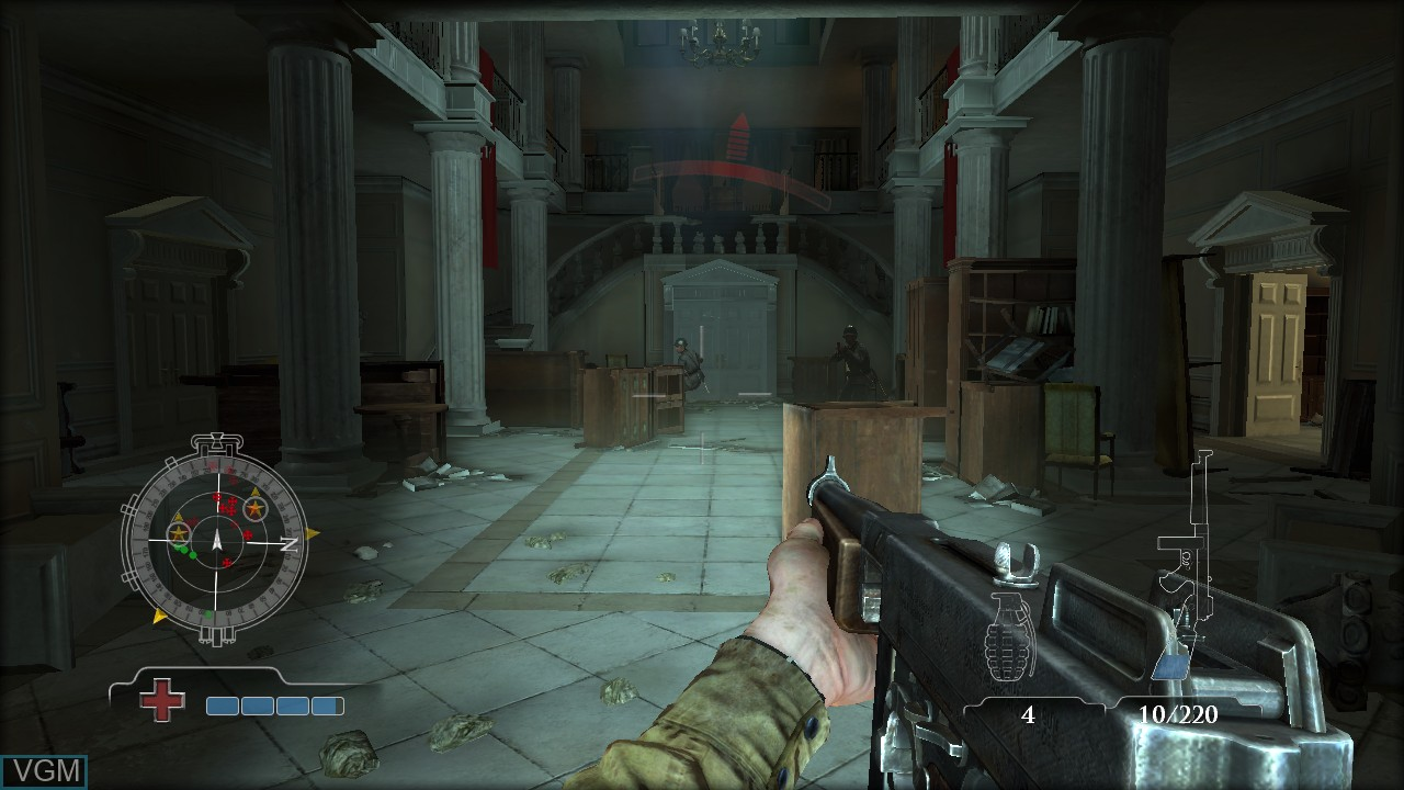 In-game screen of the game Medal of Honor - Airborne on Sony Playstation 3