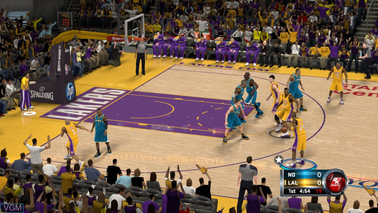In-game screen of the game NBA 2K12 on Sony Playstation 3