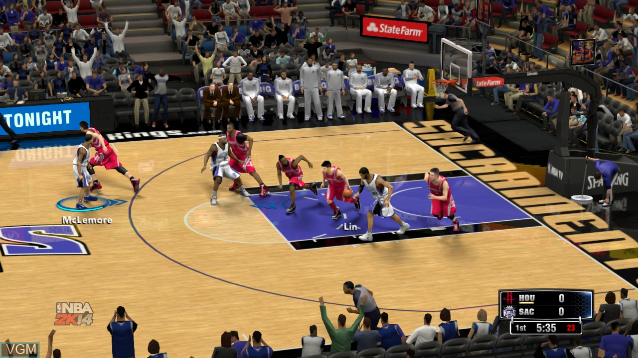 In-game screen of the game NBA 2K13 on Sony Playstation 3