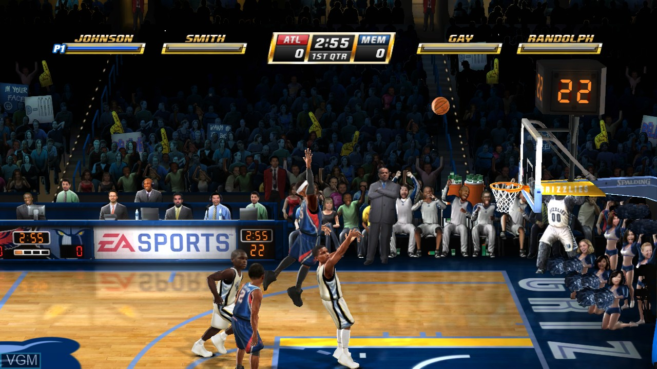 In-game screen of the game NBA Jam on Sony Playstation 3
