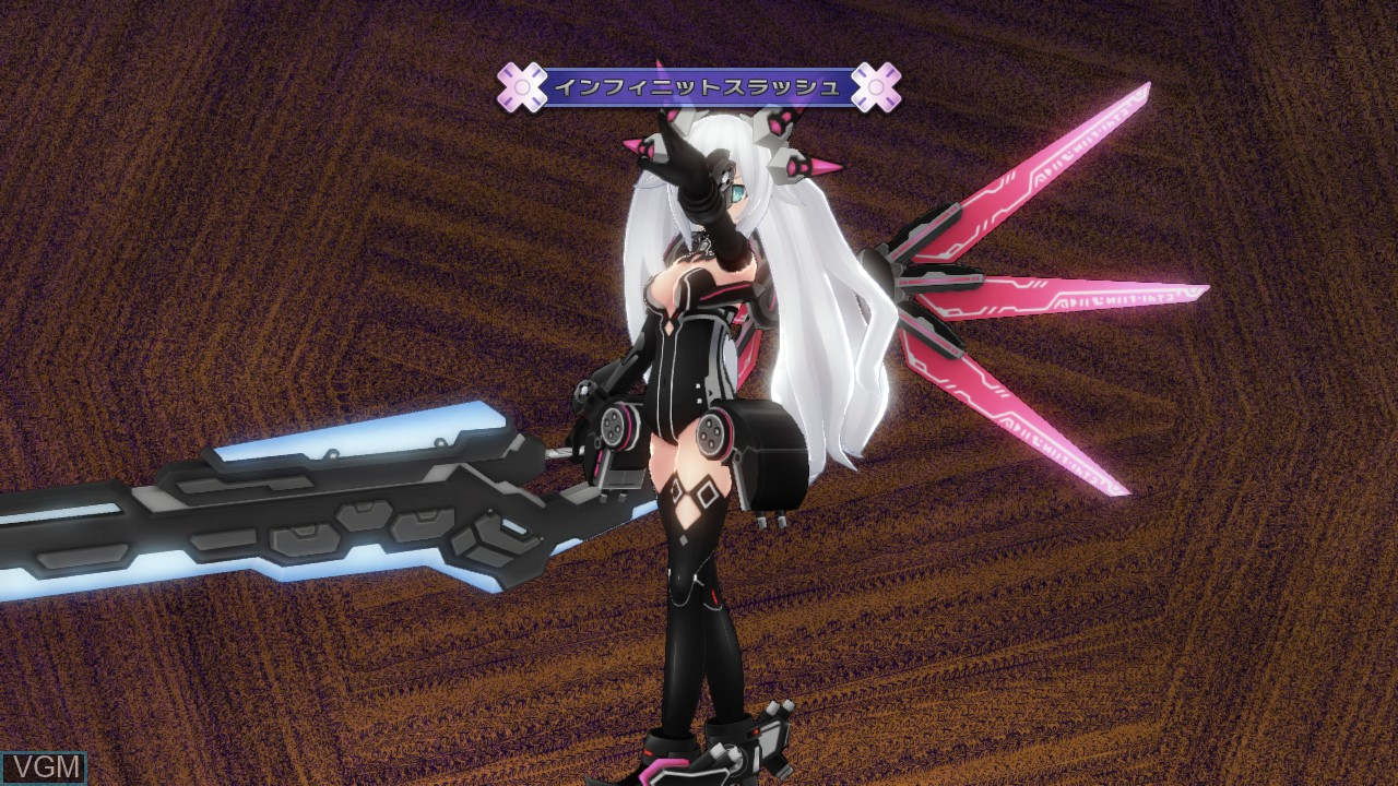 In-game screen of the game Hyperdimension Neptunia Victory on Sony Playstation 3