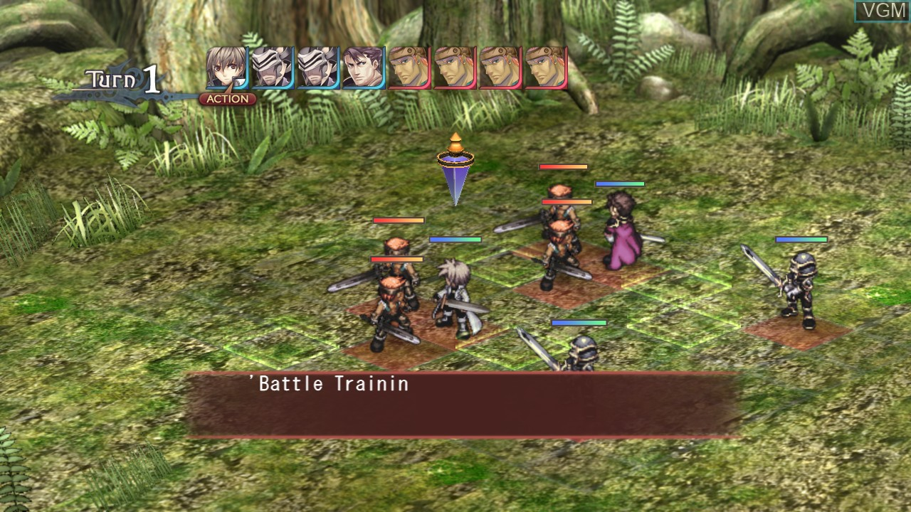 In-game screen of the game Agarest - Generations of War on Sony Playstation 3