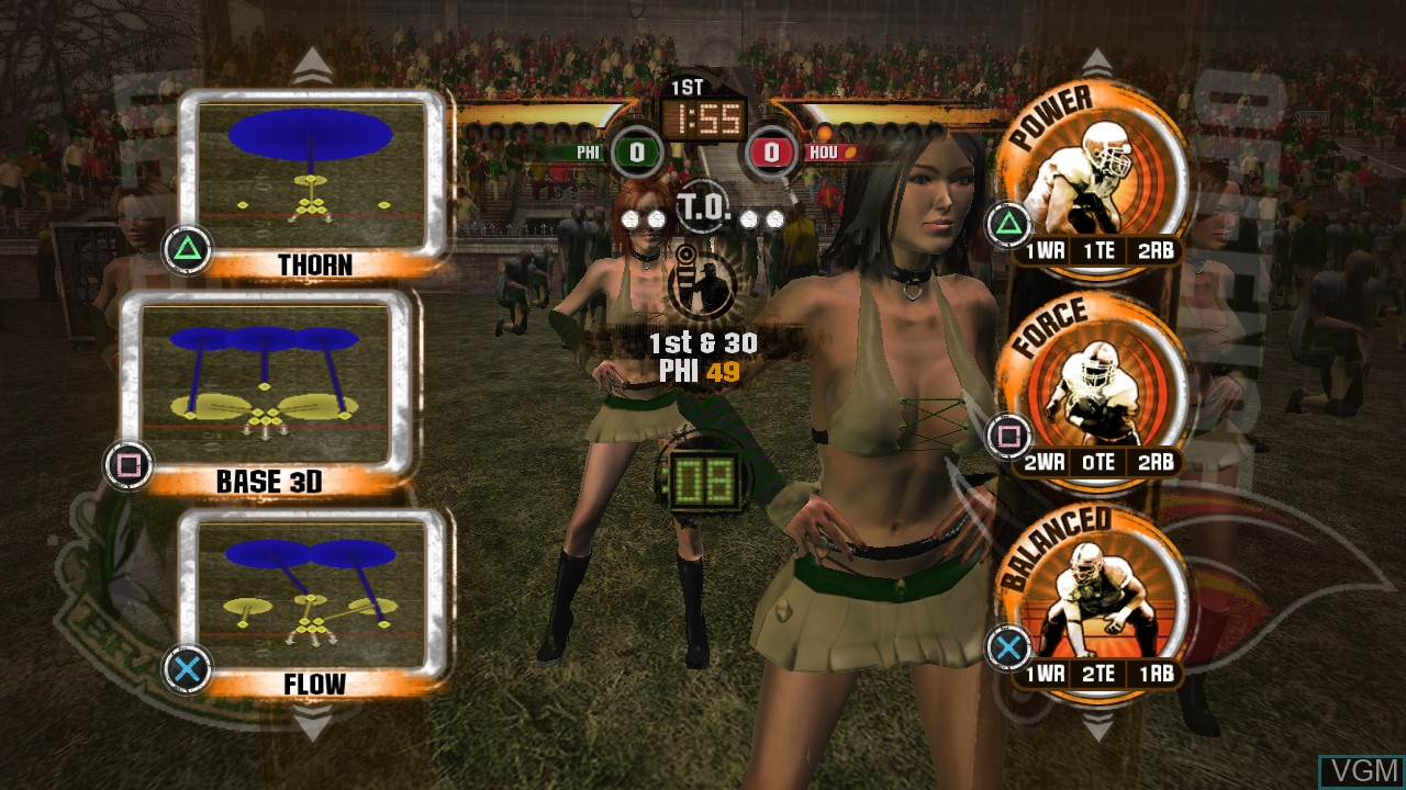 In-game screen of the game Blitz - The League II on Sony Playstation 3
