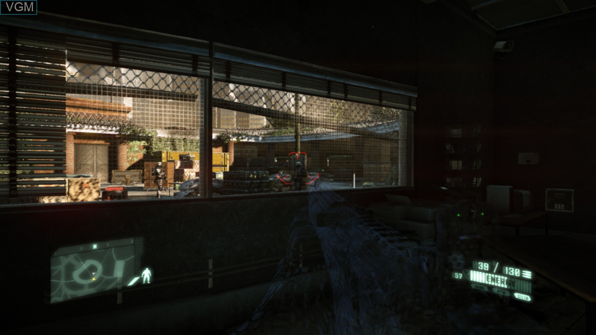 In-game screen of the game Crysis 2 on Sony Playstation 3