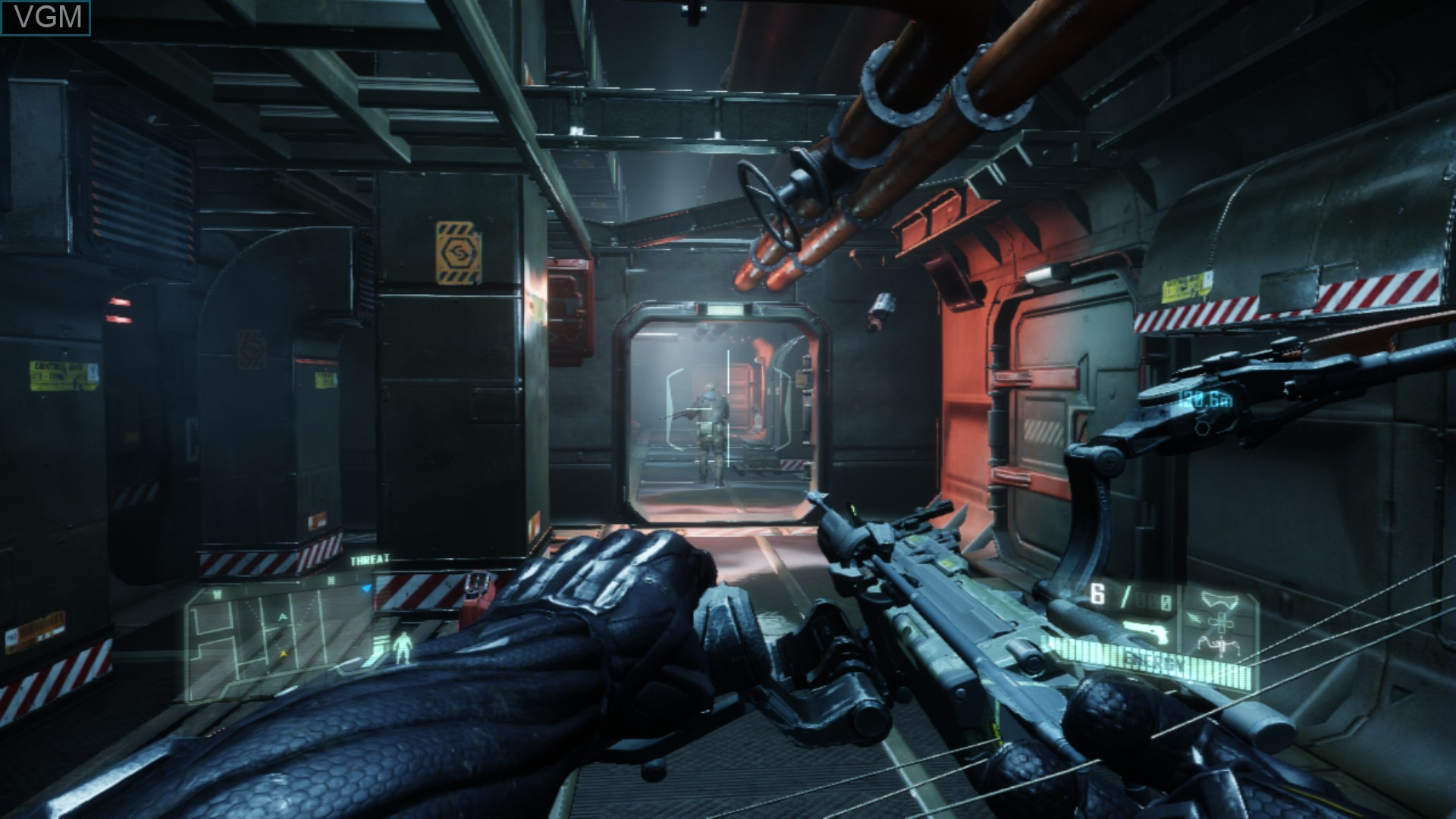 In-game screen of the game Crysis 3 on Sony Playstation 3