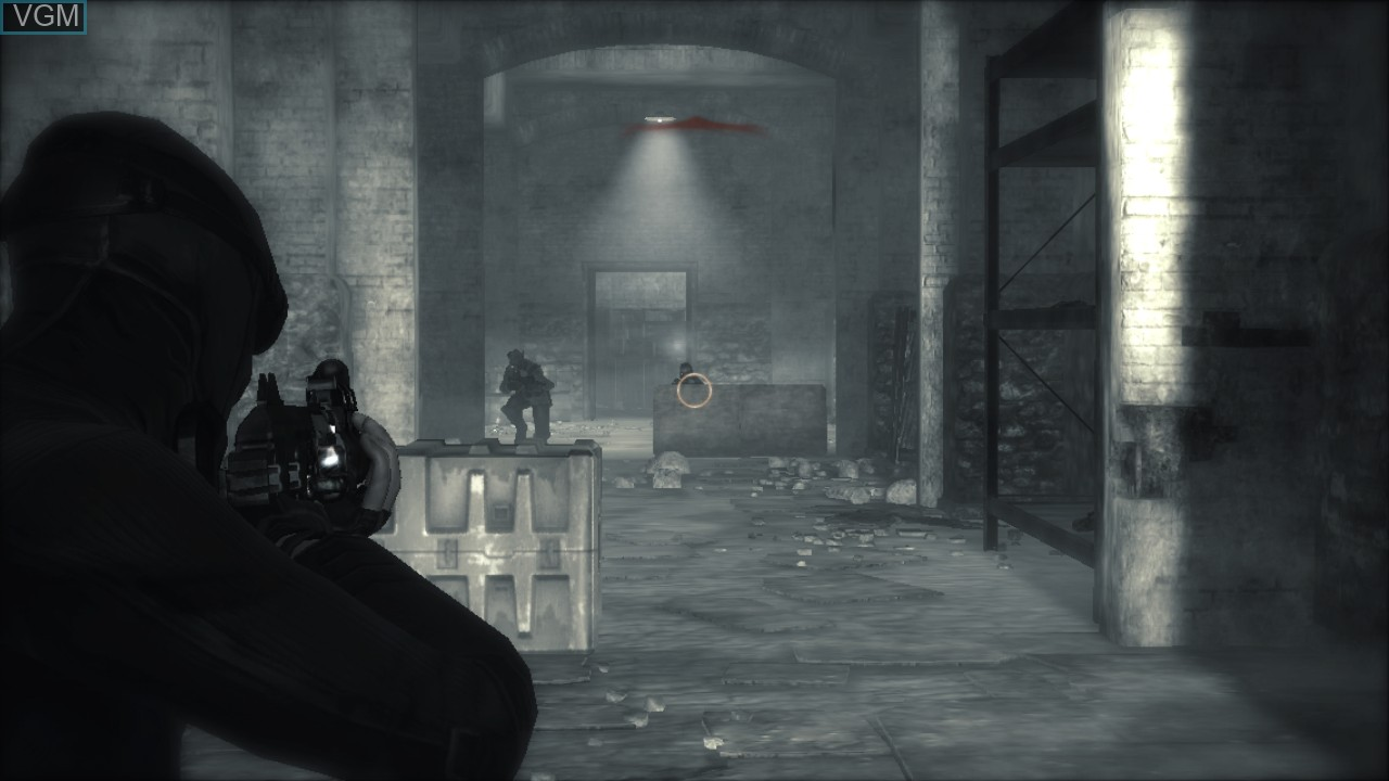In-game screen of the game Dark Sector on Sony Playstation 3