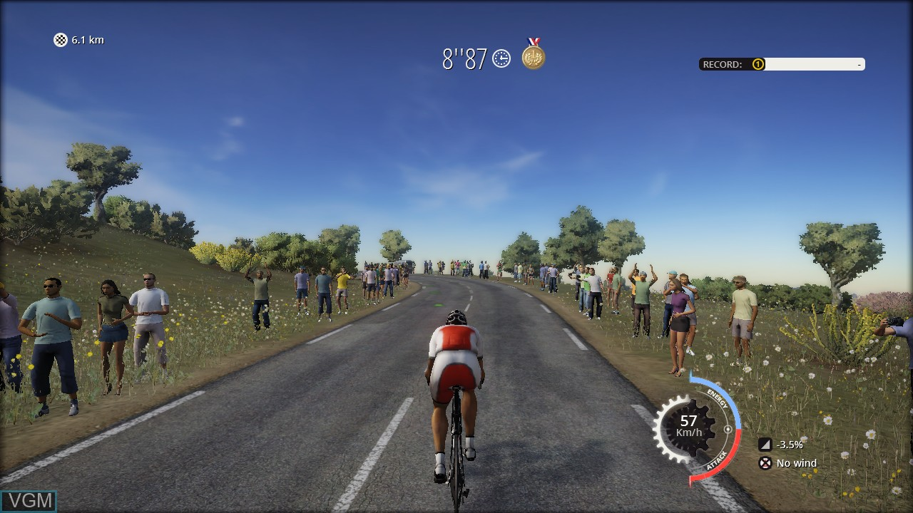 In-game screen of the game Tour de France, Le on Sony Playstation 3
