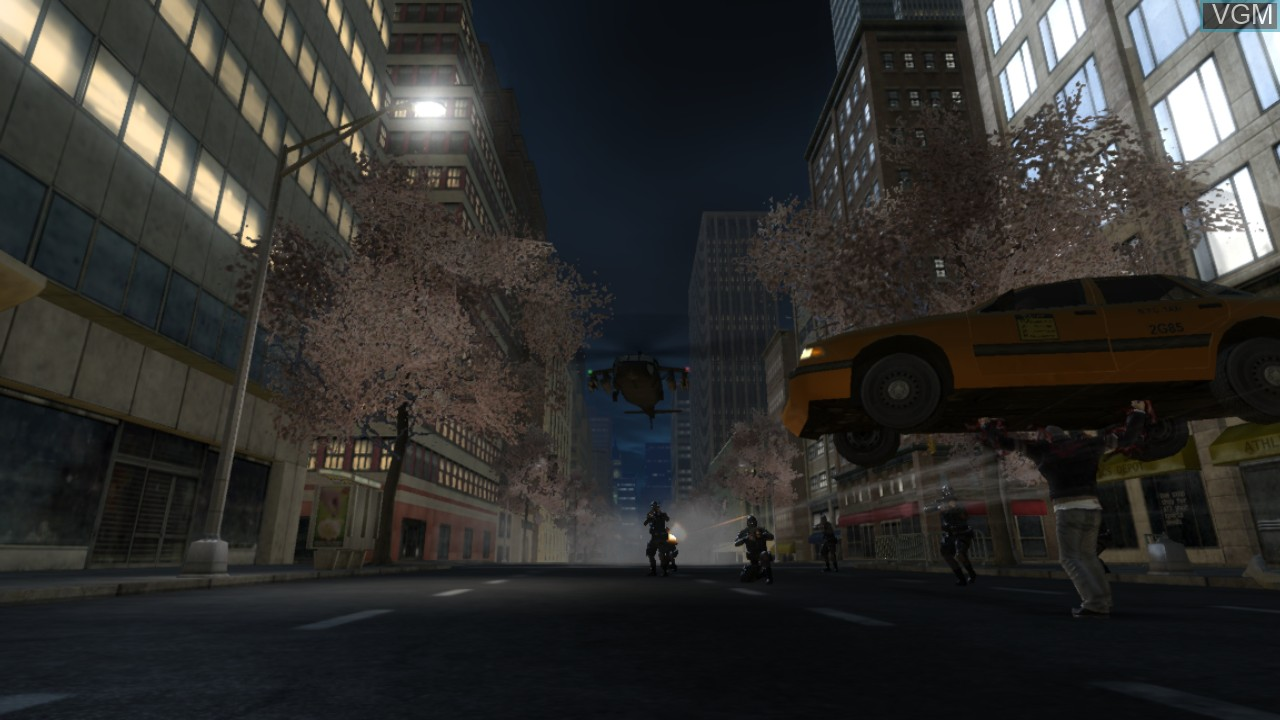 In-game screen of the game Prototype on Sony Playstation 3