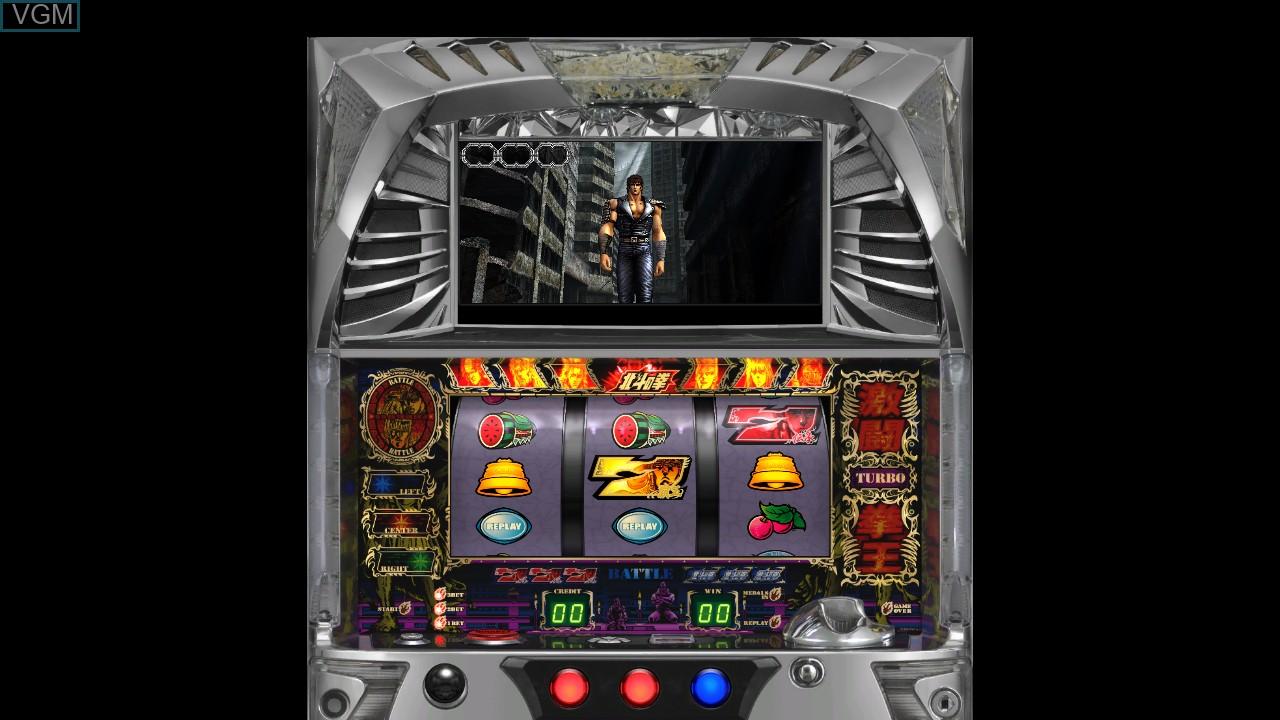 In-game screen of the game Jissen Pachi-Slot Hisshouhou! Hokuto no Ken F - Seikimatsu Kyuuseishu Densetsu on Sony Playstation 3