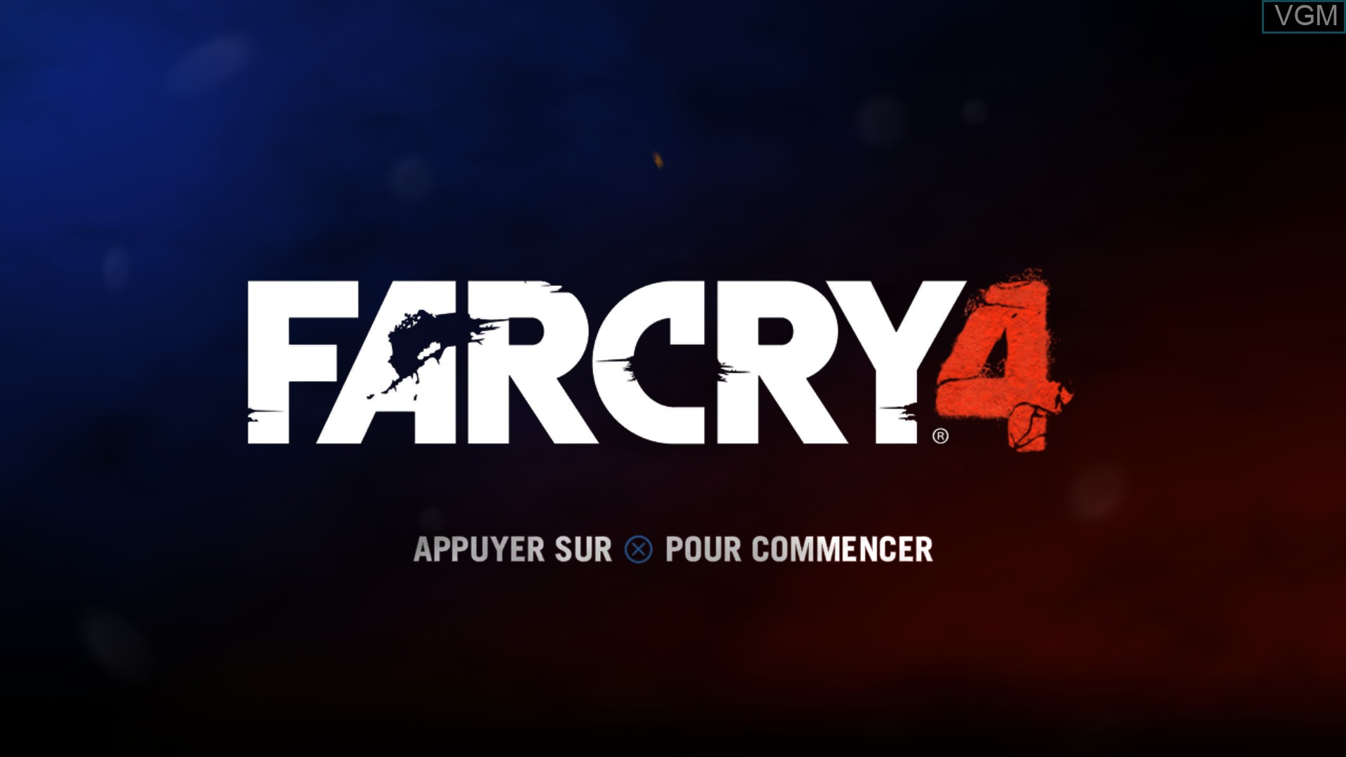 Title screen of the game Far Cry 4 on Sony Playstation 4