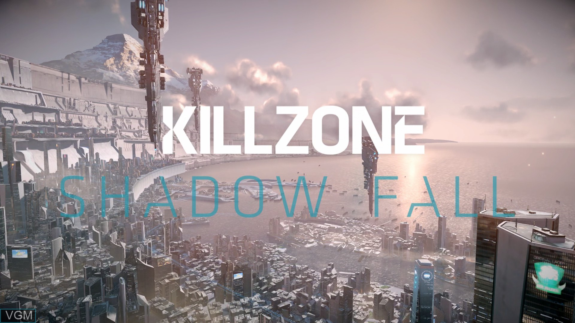 Title screen of the game Killzone - Shadow Fall on Sony Playstation 4