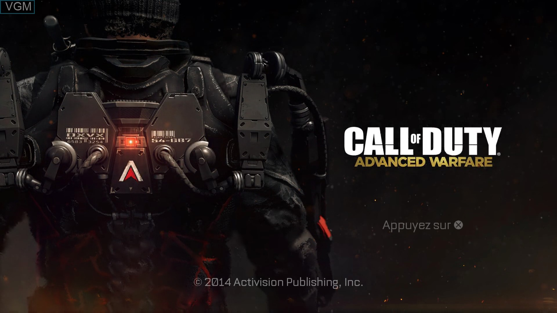 Title screen of the game Call of Duty - Advanced Warfare on Sony Playstation 4