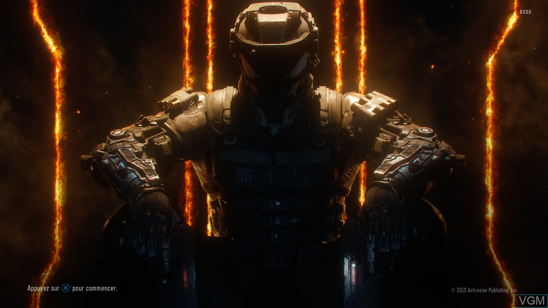 Title screen of the game Call of Duty - Black Ops III on Sony Playstation 4