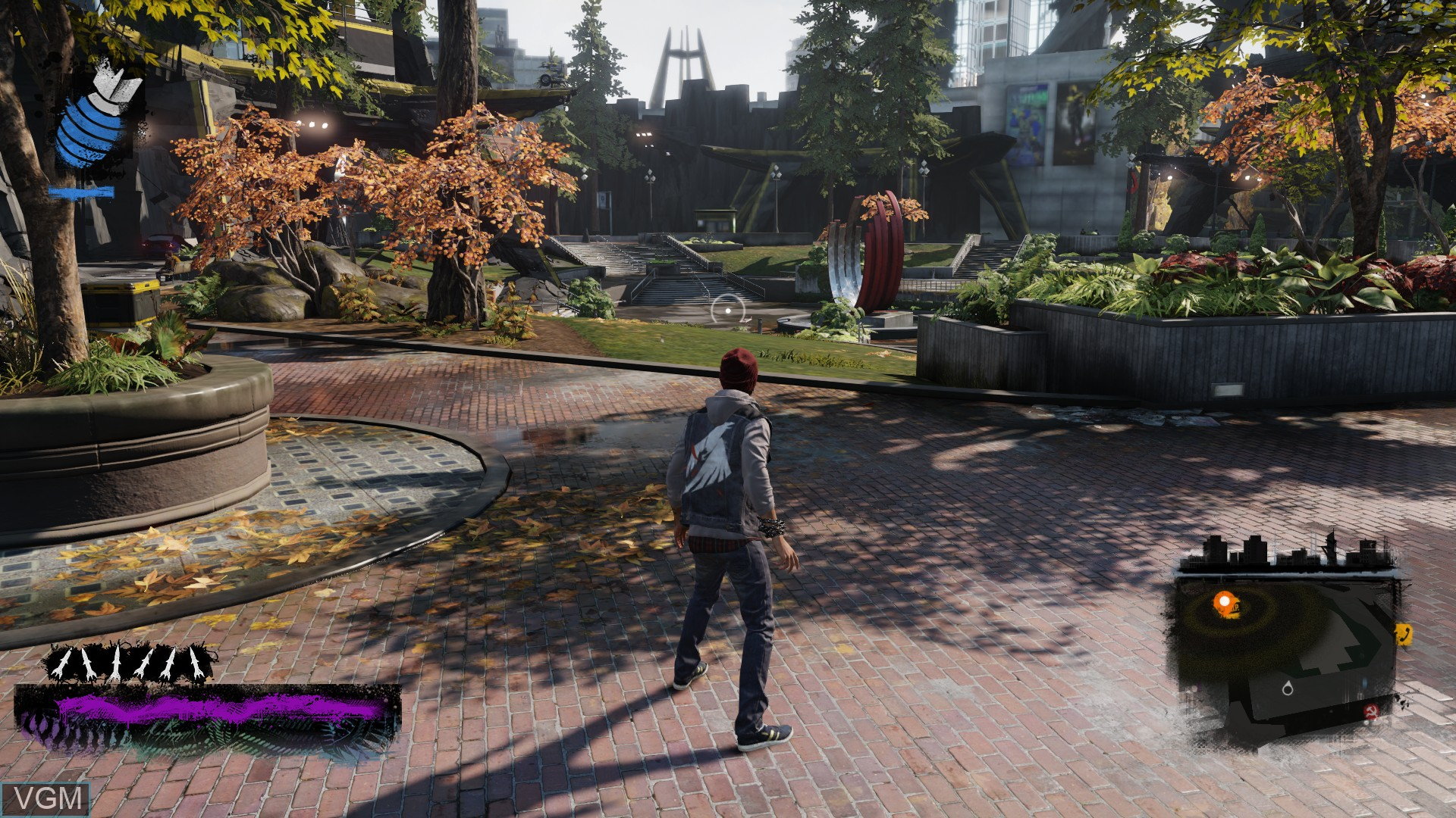 Menu screen of the game inFamous - Second Son on Sony Playstation 4