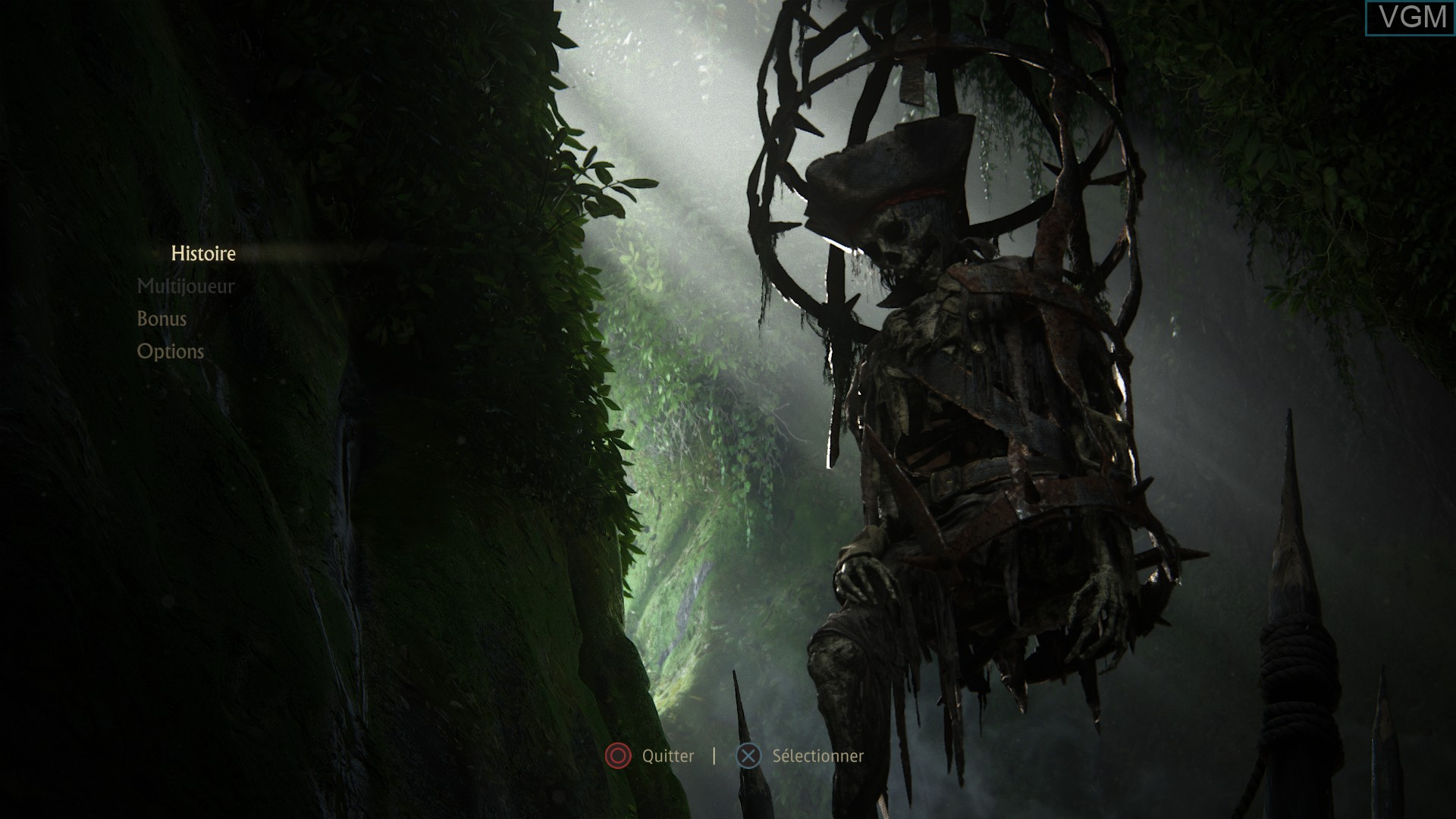 Menu screen of the game Uncharted 4 - A Thief's End on Sony Playstation 4