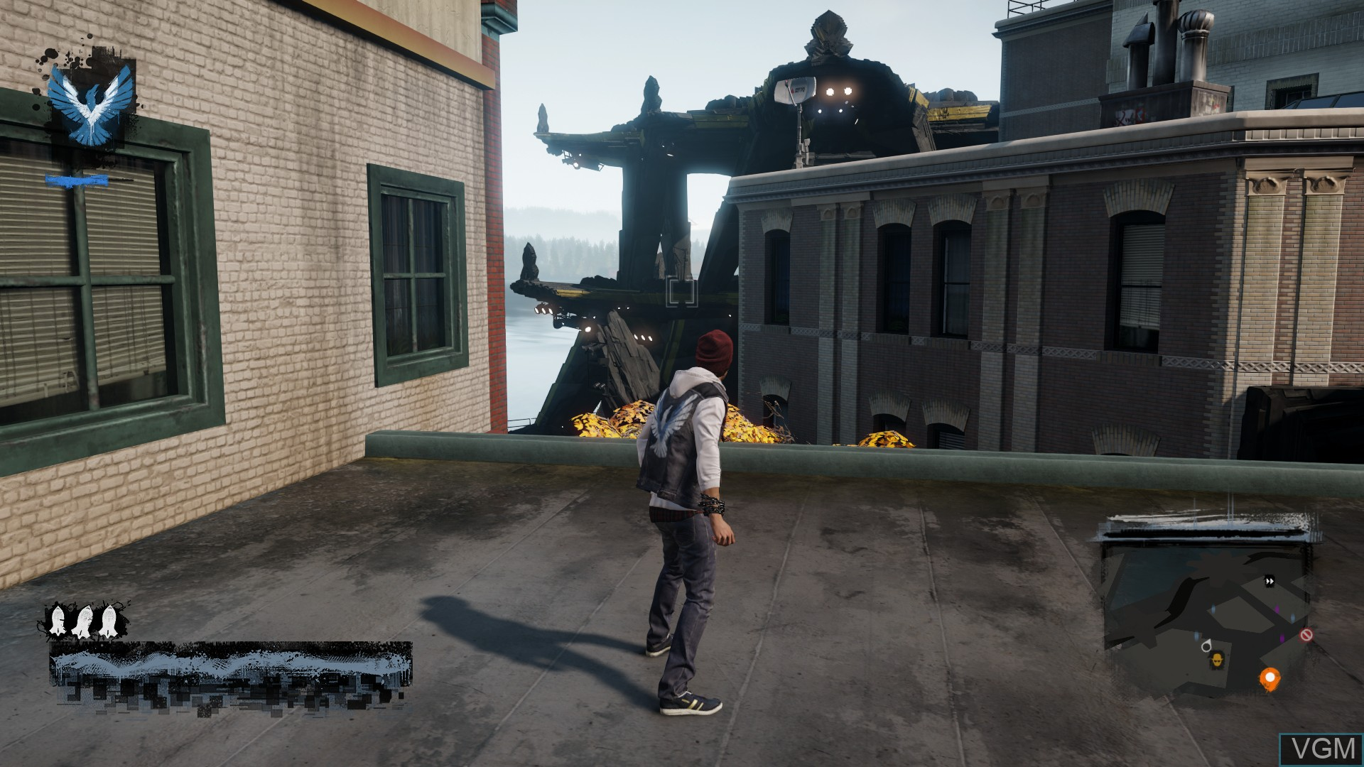 In-game screen of the game inFamous - Second Son on Sony Playstation 4