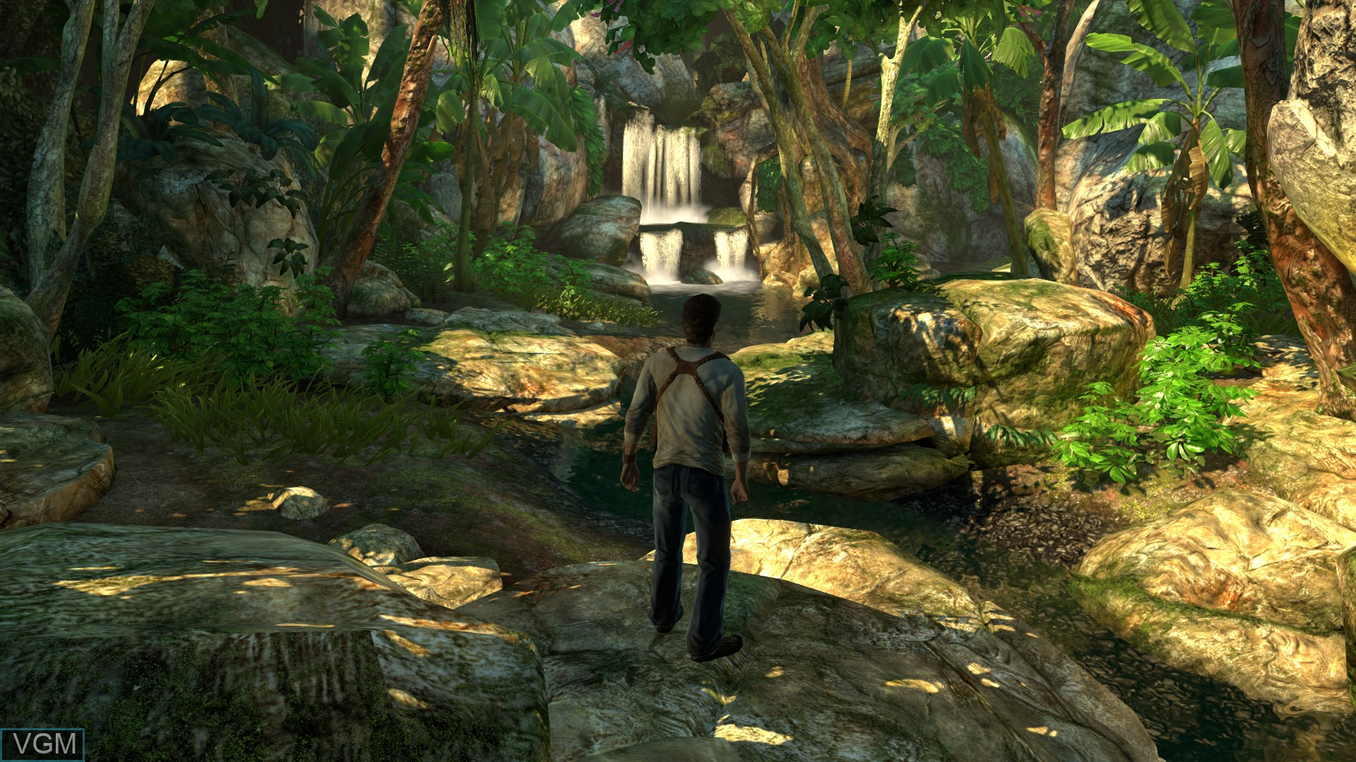 In-game screen of the game Uncharted - The Nathan Drake Collection on Sony Playstation 4