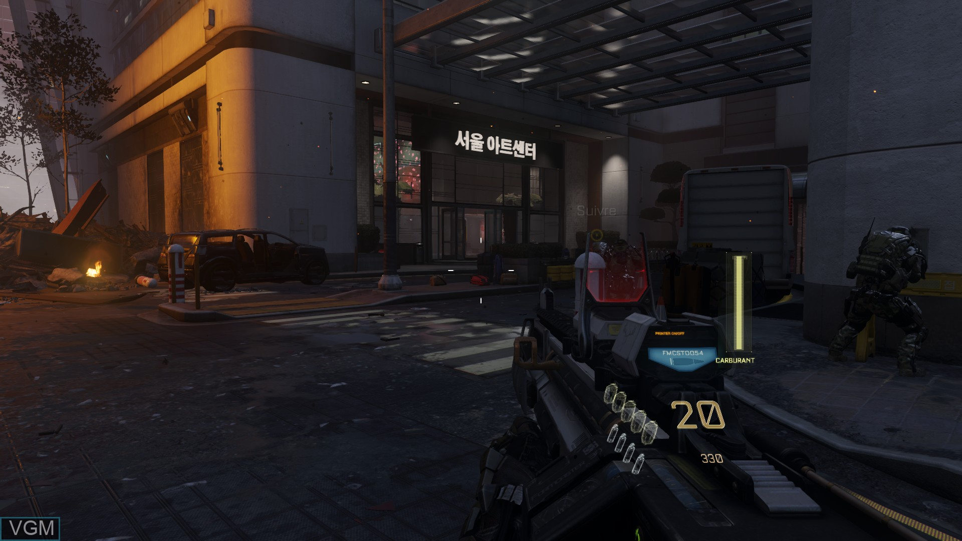 In-game screen of the game Call of Duty - Advanced Warfare on Sony Playstation 4