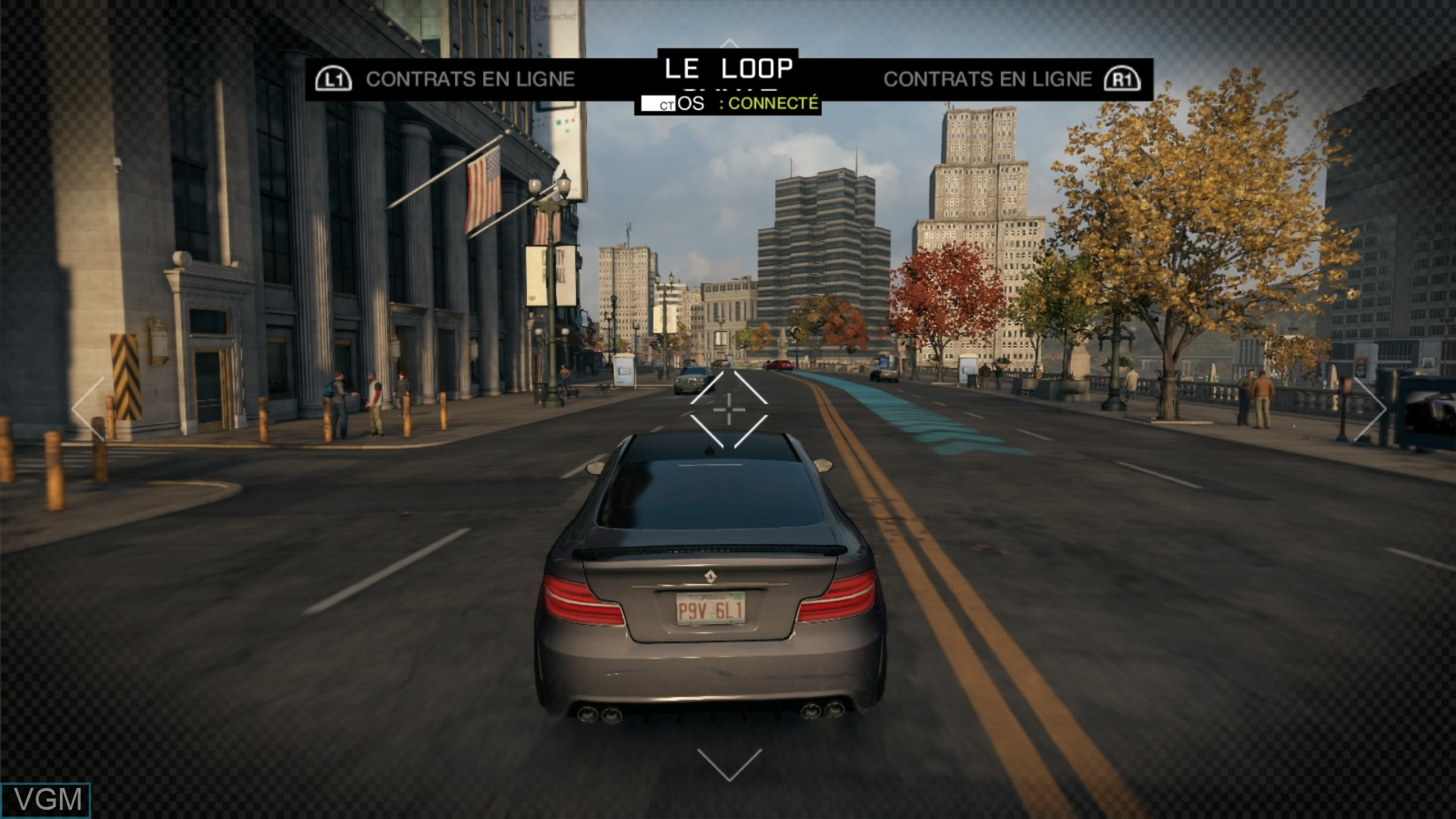 In-game screen of the game Watch Dogs on Sony Playstation 4