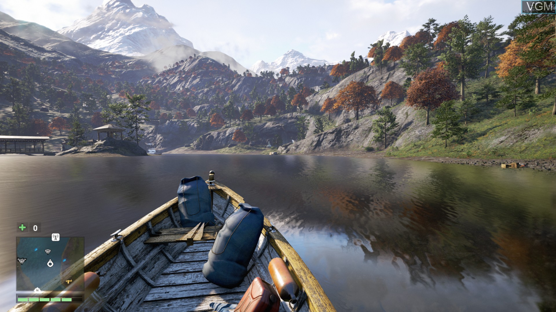 In-game screen of the game Far Cry 4 on Sony Playstation 4
