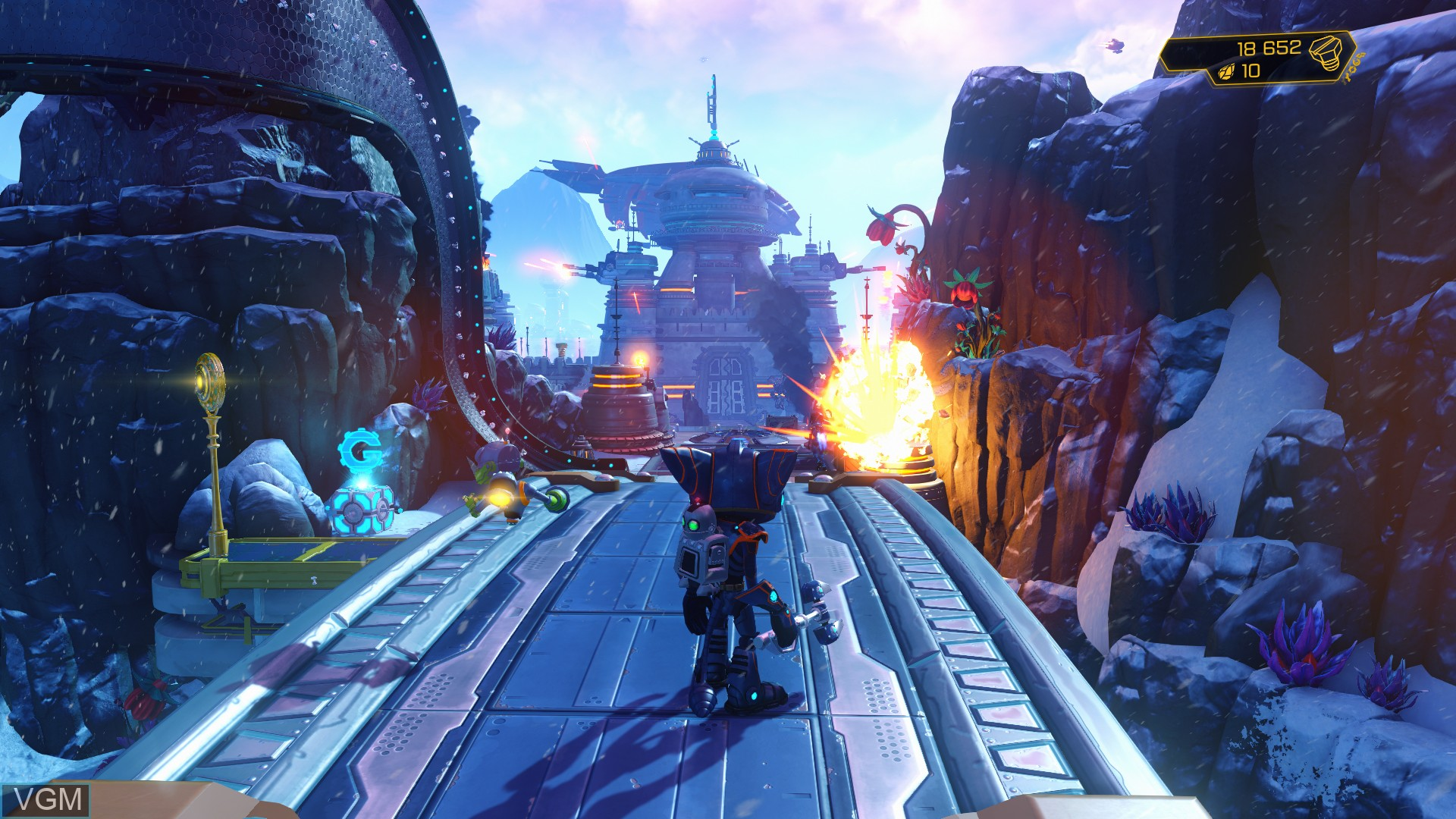 In-game screen of the game Ratchet & Clank on Sony Playstation 4