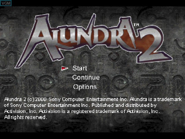 Title screen of the game Alundra 2 - A New Legend Begins on Sony Playstation