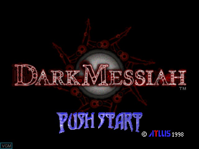 Title screen of the game Dark Messiah on Sony Playstation
