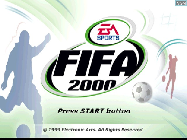 Title screen of the game FIFA 2000 on Sony Playstation