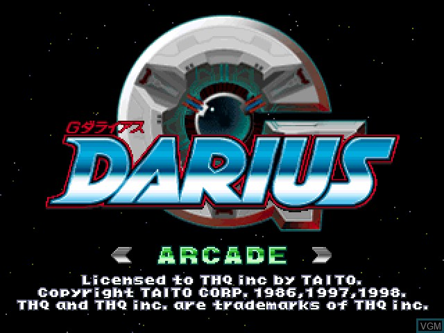 Title screen of the game G. Darius on Sony Playstation