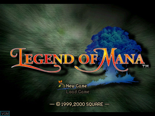 Title screen of the game Legend of Mana on Sony Playstation