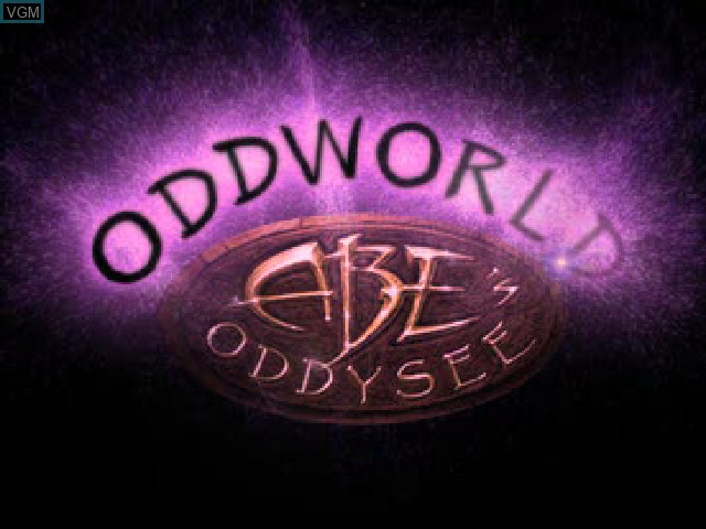 Title screen of the game Oddworld - Abe's Oddysee on Sony Playstation