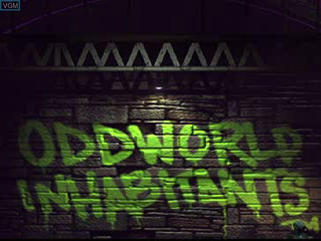 Title screen of the game Oddworld - Abe's Exoddus on Sony Playstation
