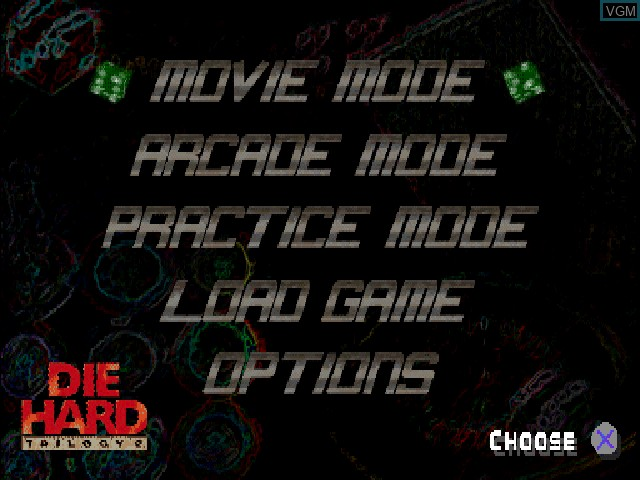 Title screen of the game Die Hard Trilogy 2 - Viva Las Vegas on Sony Playstation