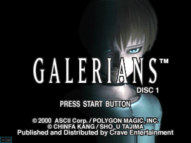 Title screen of the game Galerians on Sony Playstation
