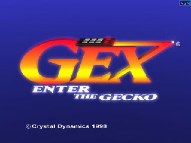 Title screen of the game Gex - Enter the Gecko on Sony Playstation