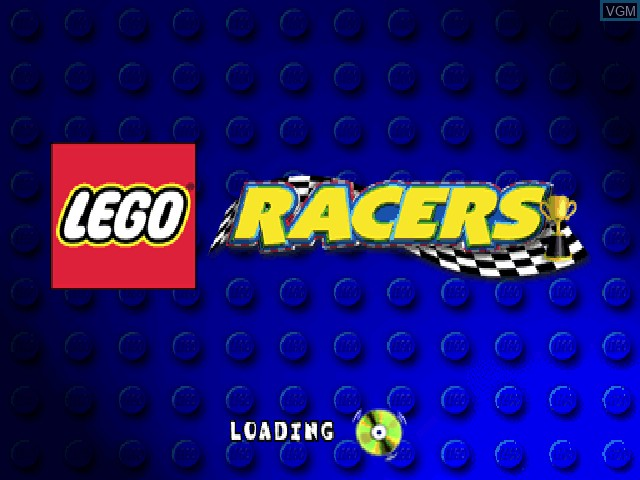 Title screen of the game LEGO Racers on Sony Playstation